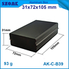 72*30.5*105MM Black color powder coating housing cabinet extruded aluminum