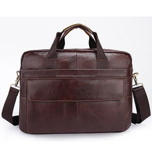 Full Grain Leather Handmade Men Laptop Briefcase Bag 1115