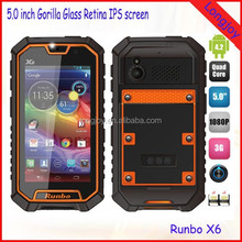 2014 Best Rugged Waterproof Cell Phone Runbo X6 5.0 Inch MTK6589T 1.5GHz 2GB RAM 32GB ROM