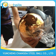 2 3 4 5 inch orange color stainless steel gazing ball