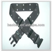 57mm black army military canvas belts,custom military belt