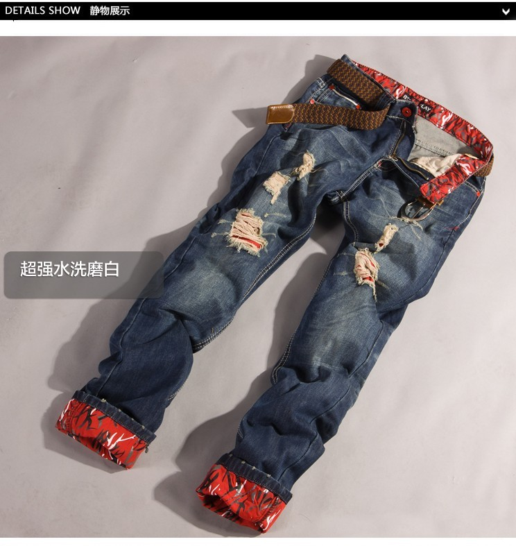 2016 New Style Fashion Men Skinny Ripped Italian Jeans With Stock Lots