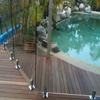 China supplier high quality fitting the swimming pool glass spigot railing