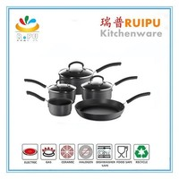 New kitchen products for 2015 cookware set cooking pot & milk pan king/titanium cookware handle