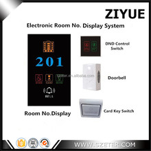 Hotel Electric Electronic Doorplate Do Not Disturb Sign Switch DND Doorbell