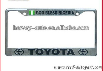 USA EU stainless steel or Chromed CAR license plate frame