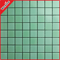 Name: green glass mosaic, crystal glass mosaic