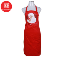 wholesale custom logo heat transfer print promotional gift set cheap cotton christmas apron