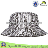 100% cotton adult mens aztec print fashion reversible bucket hat