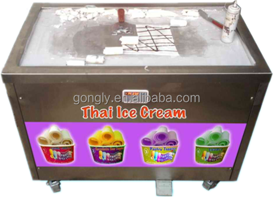 Panasonic/Aspera compressor ice cream machine indonesia for sale fried ice cream machine RoHs CE approved