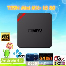 Amlogic S905 cpu 5-Core gpu Android 5.1 OS 1GB DDR3 ram 8GB emmc rom t95n set top box Android tv box