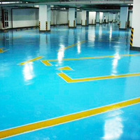 Thick Gray Concrete Garage Floor Coating
