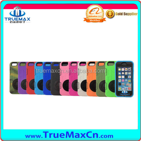 Latest Silicone Case For iPhone 6 Silicone Case With Plastic Stander, new product for iPhone 6