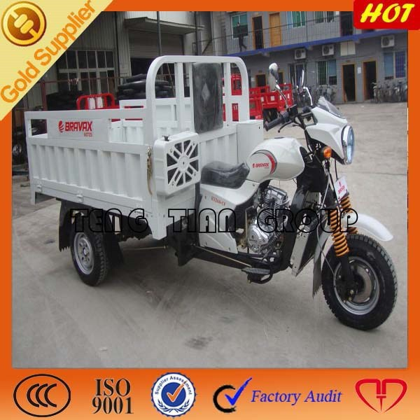hot sell cargo tricycle gasoline engine container closed 3 wheel motorcycle for adults