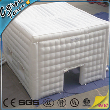 Big fashion luxury display show white inflatable cube tent for sale