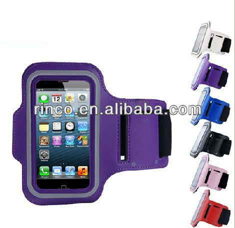 Sweatproof Armband Dual FIt Sport Case Cover for Apple iPhone 5 5G