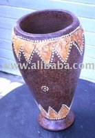 large earthenware bowl for water - lombok pottery