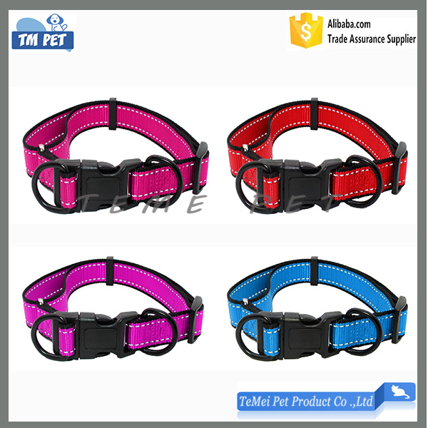 Reflective updated show collars for dogs glow in collar