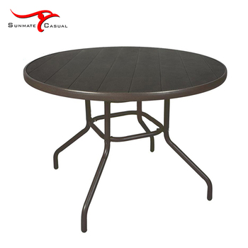 Garden Outdoor Patio Furniture Dining Picnic Plastic Round Table
