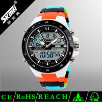 2016 fashion clock skmei 1016 new sports watch plastic 30metre waterproof male sports watch