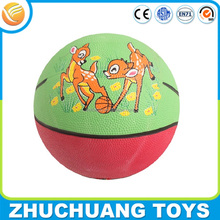 size 3 colorful custom cheap mini rubber basketballs