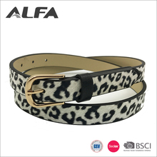 Alfa Import China Goods Fancy White Leopard Pu Leather Belts For Women