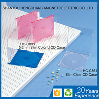 CD Box 5.2mm Slim CD Case Single With Matte Black Tray cd tray