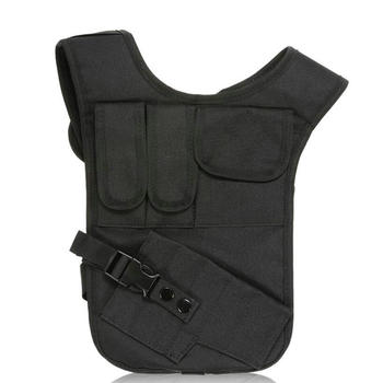 Tactical Holster Nylon Concealed Underarm Shoulder Bag Gun Holster With Double Magazine Pouch