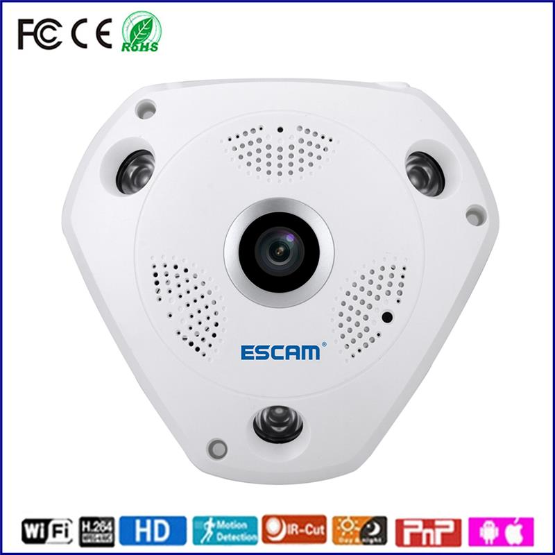 ESCAM motion detection ip camera baby monitor 960p ir wifi car dashboard camera portable