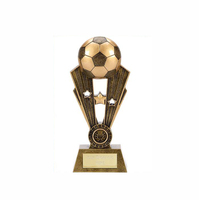 factory custom-made handmade carved fashion resin world cup soccer trophy