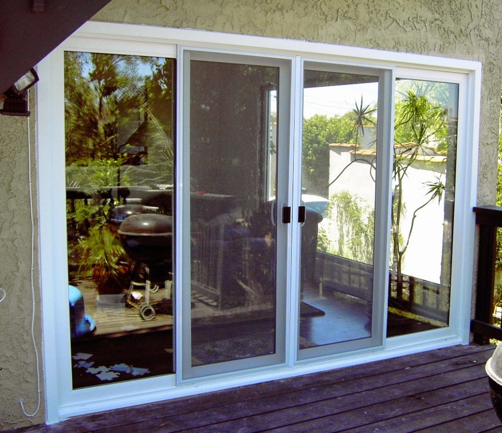 outside sliding screen white color aluminium doors and windows designs