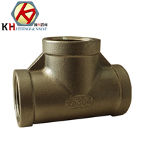 ISO4144 Stainless Steel Casting Pipe Fittings Female Thread Equal Tee
