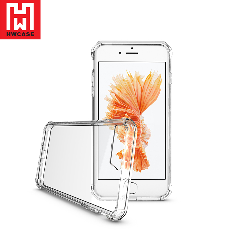HWcase Hard pc back cover clear tpu air hybrid phone case for iPhone 7 plus