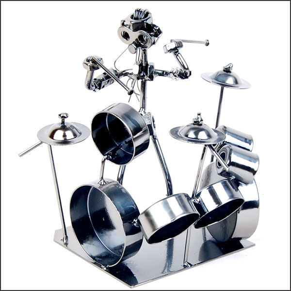 Drums-metal home decoration Crafts band Wrought iron musician
