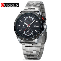 Brand CURREN 8148 3ATM Waterproof Sport Watches Men's Analog Quartz Calendar Casual Dress Bracelet Watch