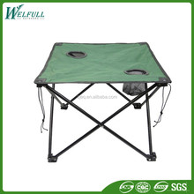 2015 New Wholesale Oxford Portable Fabric Outdoor Foldable Table