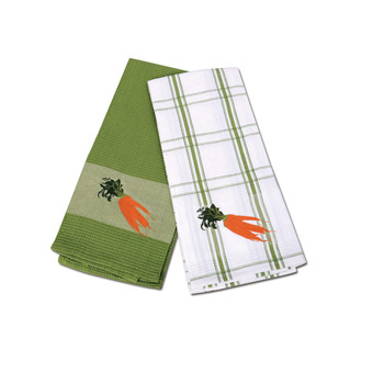 Kitchen Cotton Parrot Embroidered Tea Towels