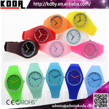 China Watch Factory Very Cheap Jelly Colors Silicone Soft Band Watch