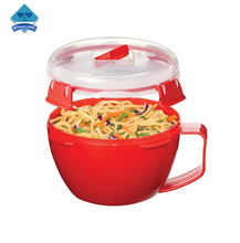 Wishome Brand Microwave Bowl With Handle Plastic Microwave Noodle Bowl Noodle Bowl