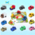 Variety patterns little car child wind up plastic toy from China
