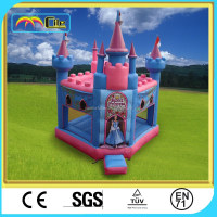 CILE Pretty Outdoor Inflatable Princess Castle Bounce Trampoline for Children