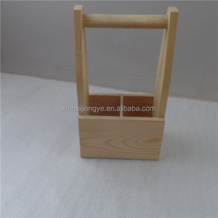 Double Bottle Wooden Wine Beer Holder Carrier