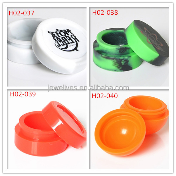 Custom design Eco-friendly container silicone jars or wax oil extract bho
