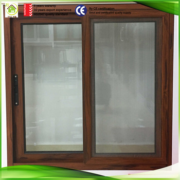 china aluminum profile track sliding wood veneer sash window buy