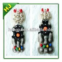 Silicone rubber keypads with free carbon pills