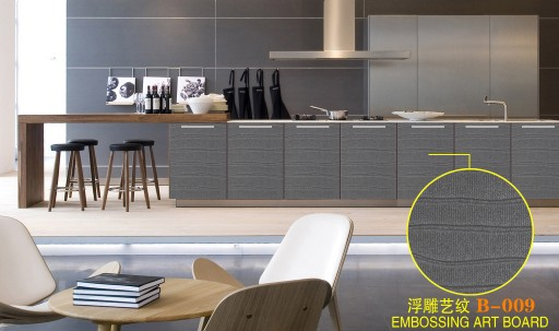 export textured mdf board for kitchen cabinet made in china