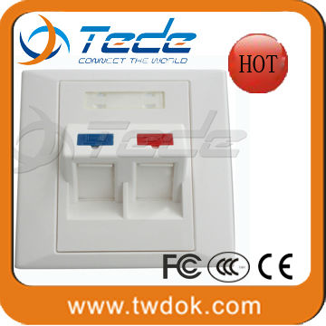 fiber 2 port faceplate in China factory