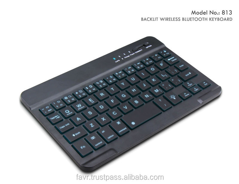 Ultra thin backlit wireless bluetooth keyboard--slim illuminated keyboard with 3 changable lights