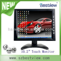 4 Wire Resistive Touch Screen 10 inch TFT LCD VGA Monitor