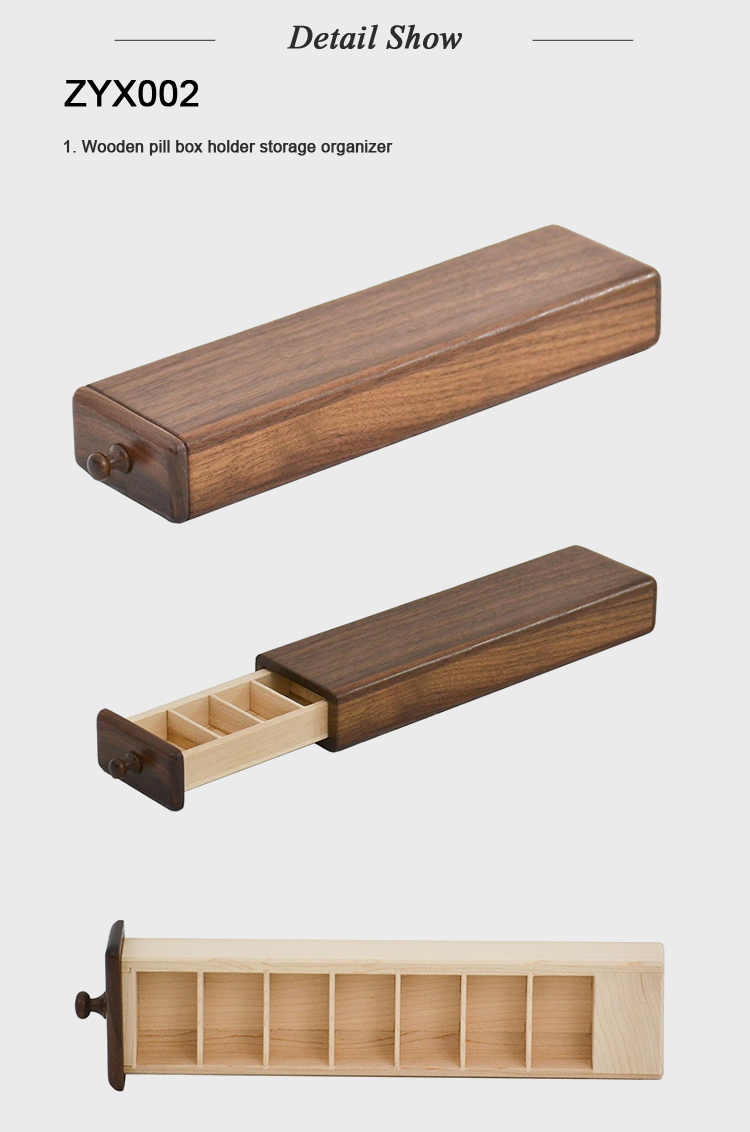 Factory Price Storage Wooden Pill Box